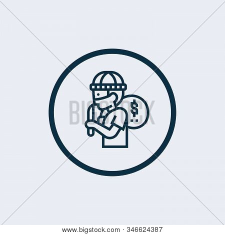 Thief Icon Isolated On White Background From Insurance Collection. Thief Icon Trendy And Modern Thie