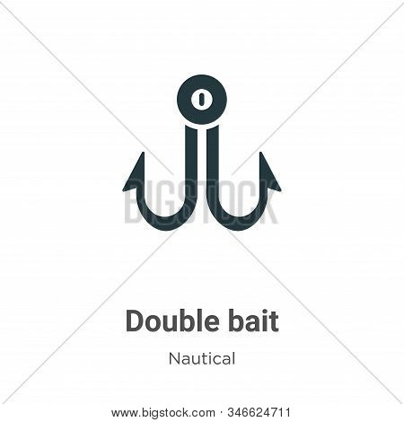 Double bait icon isolated on white background from nautical collection. Double bait icon trendy and