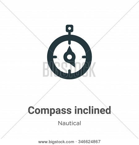 Compass inclined icon isolated on white background from nautical collection. Compass inclined icon t