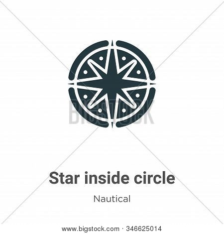 Star inside circle icon isolated on white background from nautical collection. Star inside circle ic