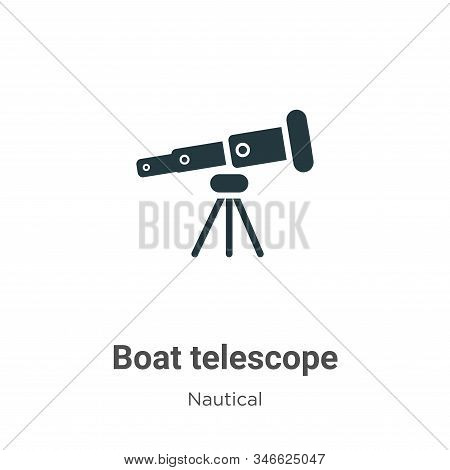 Boat telescope icon isolated on white background from nautical collection. Boat telescope icon trend