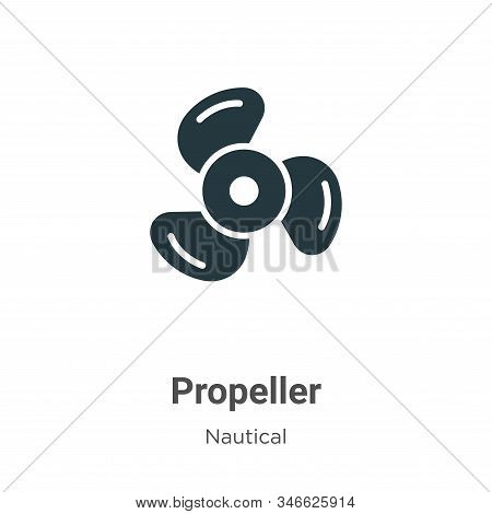 Propeller icon isolated on white background from nautical collection. Propeller icon trendy and mode