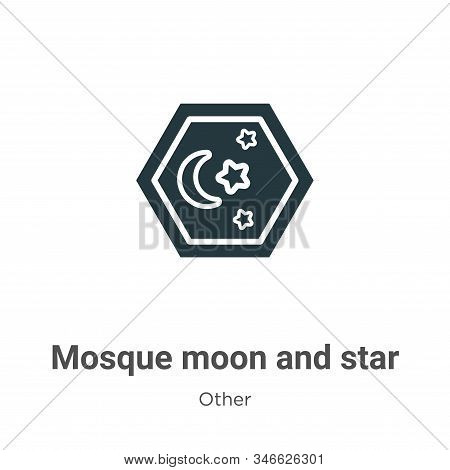 Mosque moon and star icon isolated on white background from other collection. Mosque moon and star i