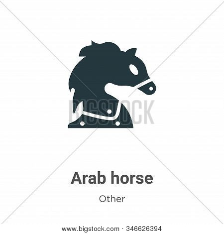 Arab horse icon isolated on white background from other collection. Arab horse icon trendy and moder