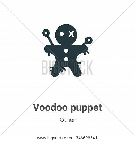 Voodoo Puppet Glyph Icon Vector On White Background. Flat Vector Voodoo Puppet Icon Symbol Sign From