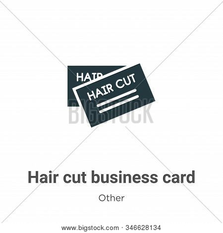 Hair cut business card icon isolated on white background from other collection. Hair cut business ca