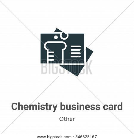 Chemistry business card icon isolated on white background from other collection. Chemistry business