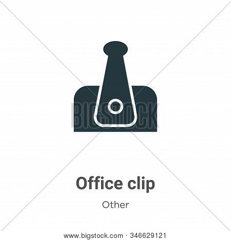 Office clip icon isolated on white background from other collection. Office clip icon trendy and mod