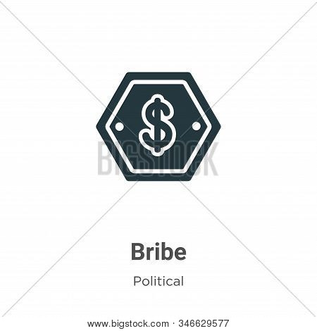 Bribe icon isolated on white background from political collection. Bribe icon trendy and modern Brib