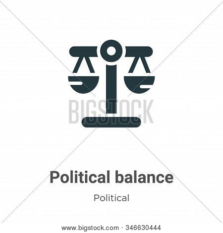 Political balance icon isolated on white background from political collection. Political balance ico