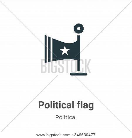 Political Flag Glyph Icon Vector On White Background. Flat Vector Political Flag Icon Symbol Sign Fr