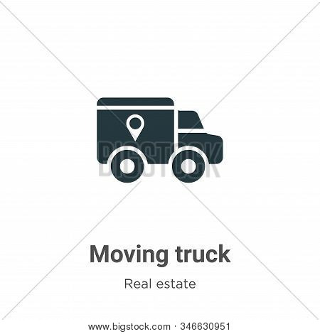 Moving truck icon isolated on white background from real estate collection. Moving truck icon trendy