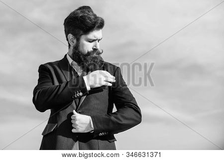 Just Right. Man Formal Suit Adjusting Jacket. Male Fashion Formal Menswear. Flawless Outfit. Fashion