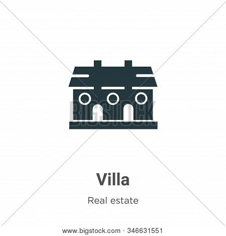 Villa icon isolated on white background from real estate collection. Villa icon trendy and modern Vi