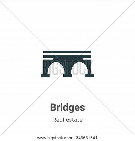 Bridges icon isolated on white background from real estate collection. Bridges icon trendy and moder