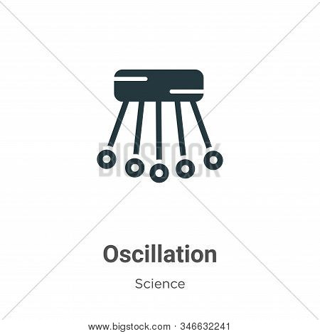 Oscillation Glyph Icon Vector On White Background. Flat Vector Oscillation Icon Symbol Sign From Mod