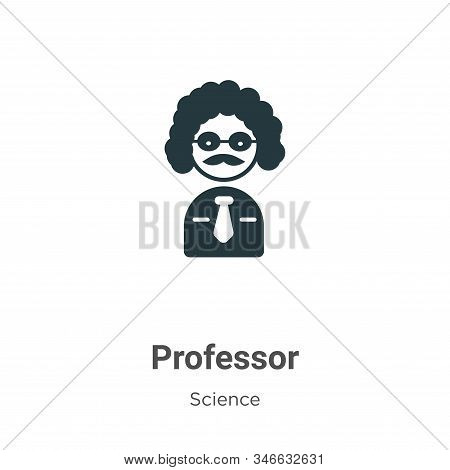 Professor icon isolated on white background from science collection. Professor icon trendy and moder