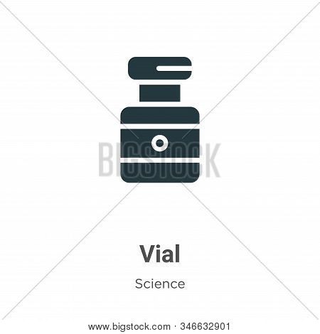 Vial icon isolated on white background from science collection. Vial icon trendy and modern Vial sym