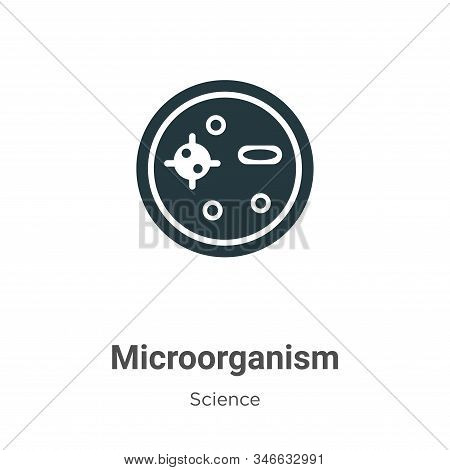 Microorganism Glyph Icon Vector On White Background. Flat Vector Microorganism Icon Symbol Sign From