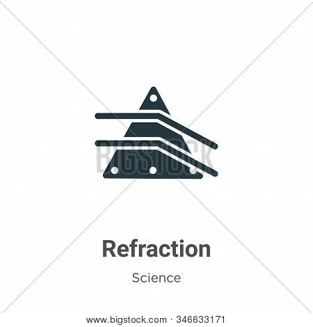 Refraction icon isolated on white background from science collection. Refraction icon trendy and mod