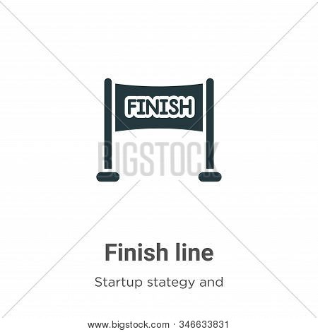 Finish line icon isolated on white background from startup stategy and success collection. Finish li