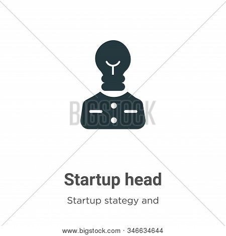Startup Head Glyph Icon Vector On White Background. Flat Vector Startup Head Icon Symbol Sign From M