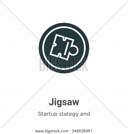 Jigsaw icon isolated on white background from startup collection. Jigsaw icon trendy and modern Jigs