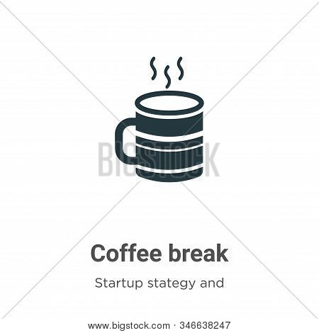 Coffee break icon isolated on white background from startup collection. Coffee break icon trendy and