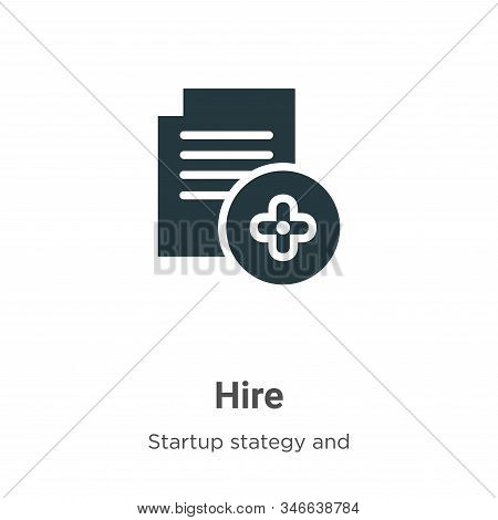 Hire icon isolated on white background from startup collection. Hire icon trendy and modern Hire sym
