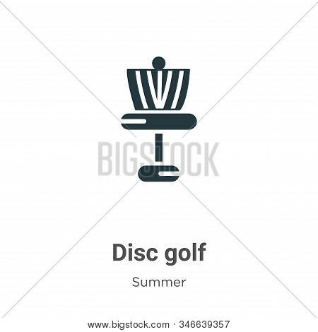Disc golf icon isolated on white background from summer collection. Disc golf icon trendy and modern