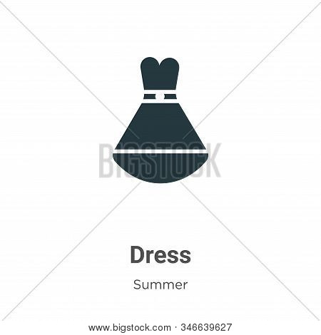 Dress icon isolated on white background from summer collection. Dress icon trendy and modern Dress s
