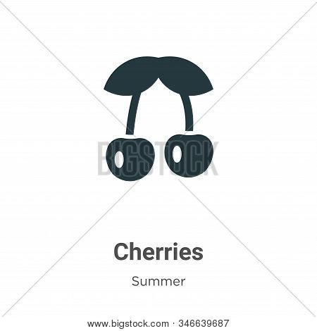 Cherries icon isolated on white background from summer collection. Cherries icon trendy and modern C
