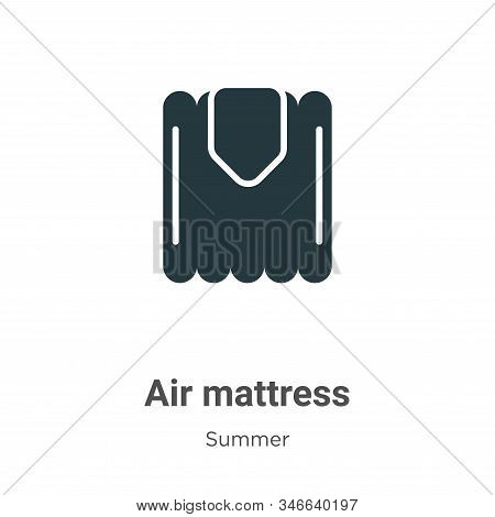 Air mattress icon isolated on white background from summer collection. Air mattress icon trendy and