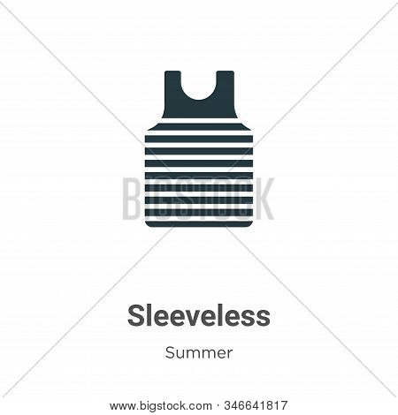 Sleeveless icon isolated on white background from summer collection. Sleeveless icon trendy and mode