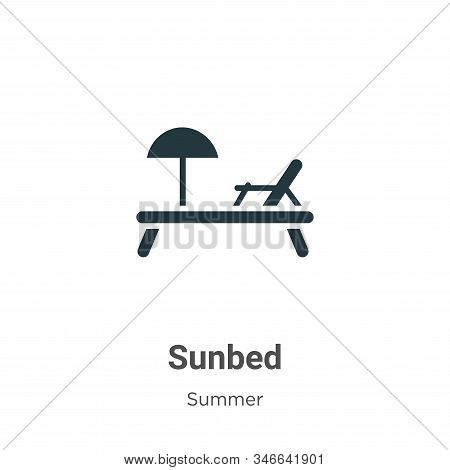 Sunbed icon isolated on white background from summer collection. Sunbed icon trendy and modern Sunbe