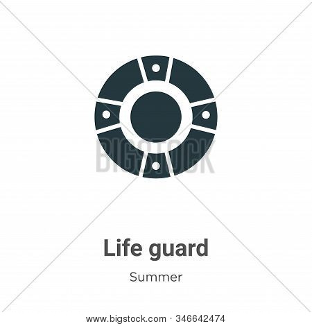 Life guard icon isolated on white background from summer collection. Life guard icon trendy and mode