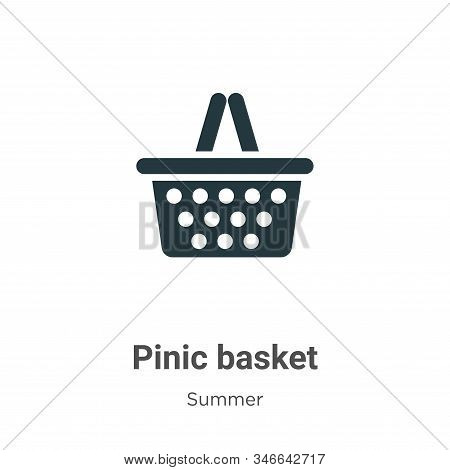 Pinic basket icon isolated on white background from summer collection. Pinic basket icon trendy and