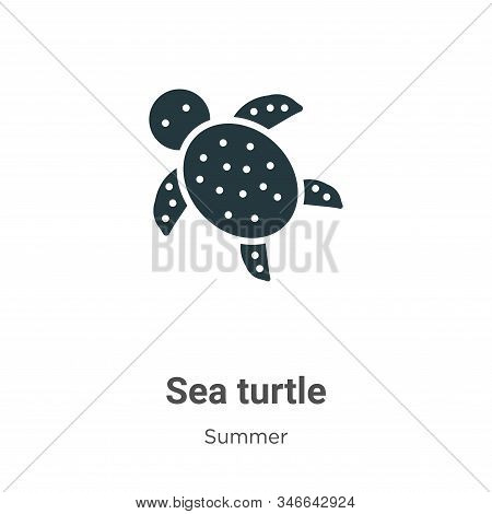 Sea turtle icon isolated on white background from summer collection. Sea turtle icon trendy and mode