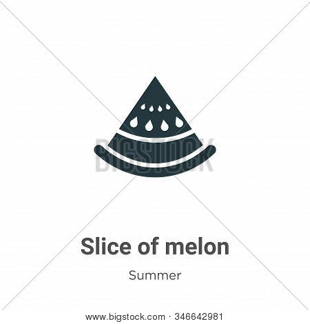 Slice of melon icon isolated on white background from summer collection. Slice of melon icon trendy