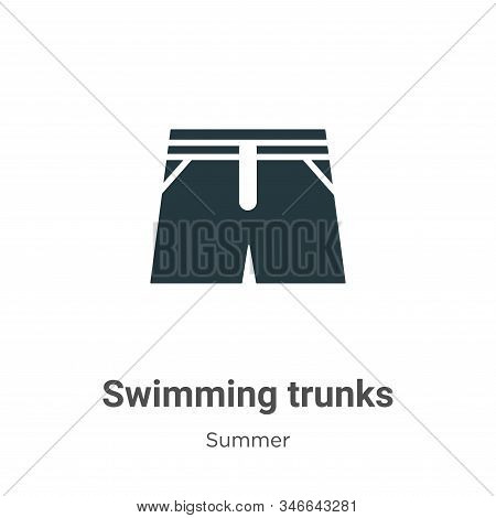 Swimming trunks icon isolated on white background from summer collection. Swimming trunks icon trend