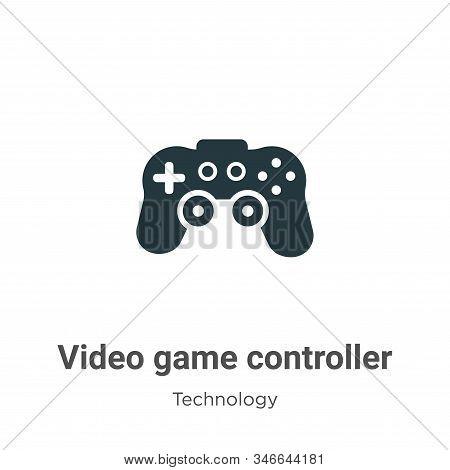 Video Game Controller Glyph Icon Vector On White Background. Flat Vector Video Game Controller Icon