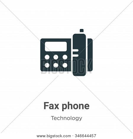 Fax phone icon isolated on white background from technology collection. Fax phone icon trendy and mo