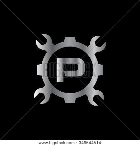 Automotive Letter P Logo Design Vector Template. Motor Business Alphabet Design P Vector Illustratio