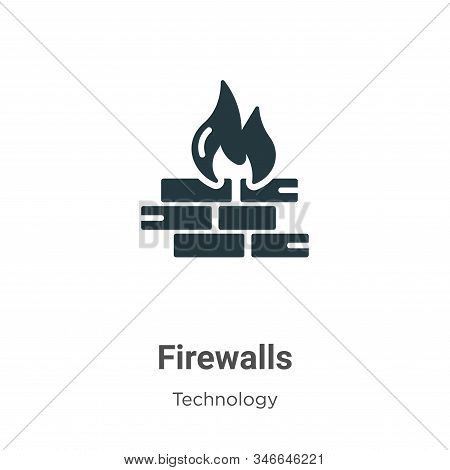 Firewalls icon isolated on white background from technology collection. Firewalls icon trendy and mo