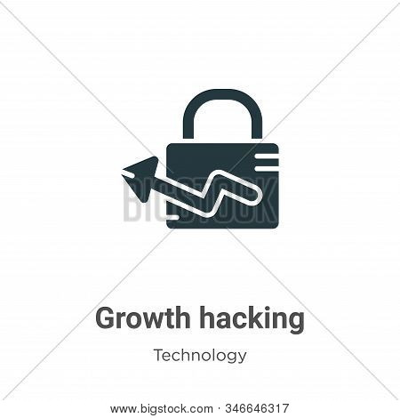 Growth hacking icon isolated on white background from technology collection. Growth hacking icon tre