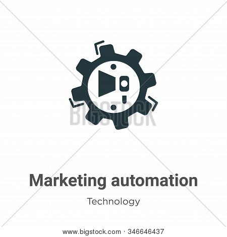 Marketing automation icon isolated on white background from technology collection. Marketing automat