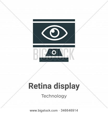 Retina display icon isolated on white background from technology collection. Retina display icon tre