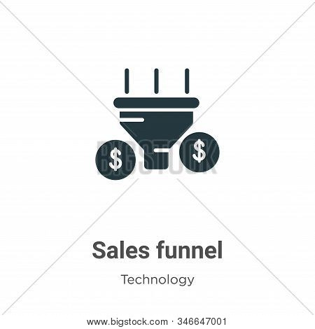 Sales funnel icon isolated on white background from technology collection. Sales funnel icon trendy