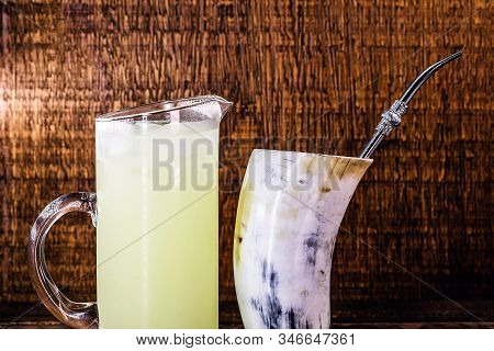 Tereré Or Tererê, Is A Brazilian Drink Made With The Infusion Of Yerba Mate In Cold Water. Drink Pre