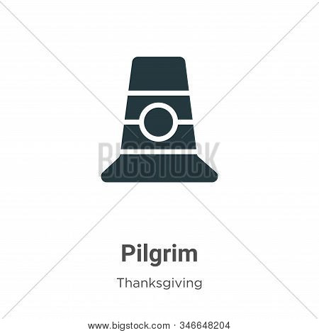 Pilgrim Glyph Icon Vector On White Background. Flat Vector Pilgrim Icon Symbol Sign From Modern Than